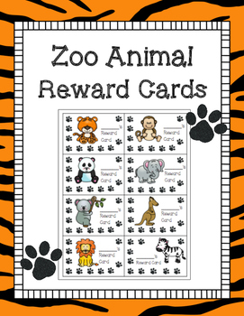 Zoo Animal Reward Cards