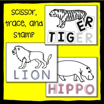 Zoo Animal Scissor, Trace and Stamp - An Animal Literacy Center