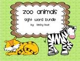 Zoo Animal Sight Word Bundle--A Literacy Activity