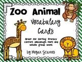 Zoo Animal Vocabulary Cards