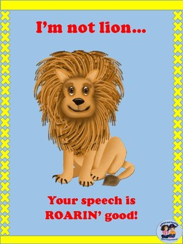 Zoo Animal Speech Posters  FREEBIE