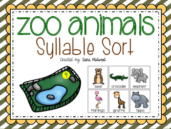 Zoo Animal Syllable Sort Center