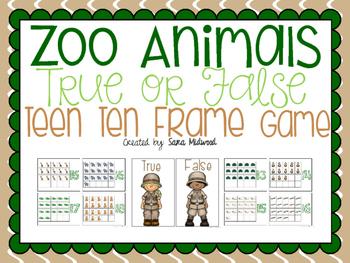 Zoo Animal Teen Ten Frame Center