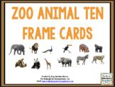 Zoo Animal Ten Frame Cards