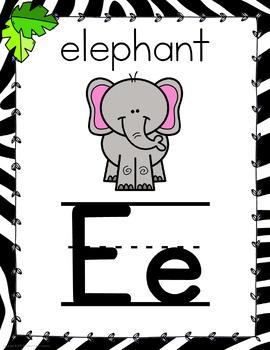 Zoo Animal Themed Alphabet Posters-Classroom Decor