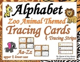 Zoo Animal Themed Alphabet Tracing Cards and Strips--Write and Wipe(Aa-Zz)