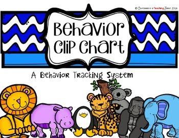 Zoo Animal Themed Behavior Clip Chart