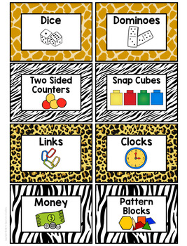 Zoo Animal Themed Supply Labels-Classroom Decor