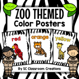 Zoo Animal Themed Color Posters-Classroom Decor