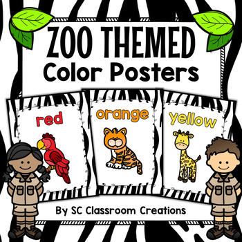 Zoo Animal Themed Color Posters