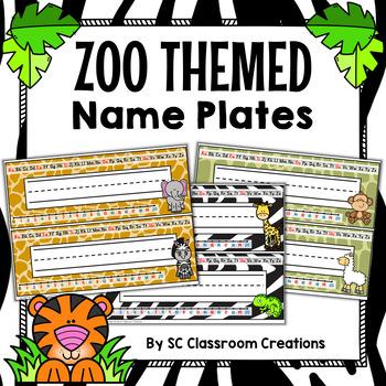 Zoo Animal Themed Name Plates (Editable)-Classroom Decor
