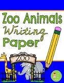 Zoo Animal Themed Paper with Handwriting Lines ~ giraffe e