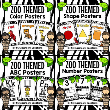 Zoo Animal Themed Poster Bundle-Classroom Decor