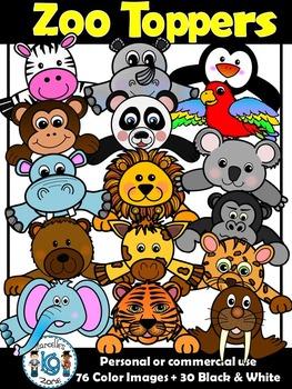Zoo Clipart- Zoo Animal Faces Clip art