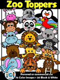 Zoo Animal Faces Clip art-zoo animal clipart- commercial and personal use