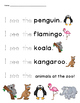 Zoo Animal Tracing Sight Words