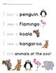 Zoo Animal Tracing Sight Words