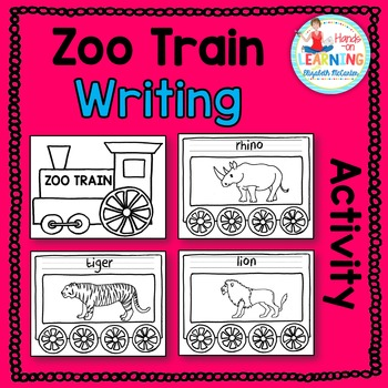 Zoo Animal Train Writing Center
