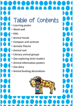 Zoo Animal Unit!