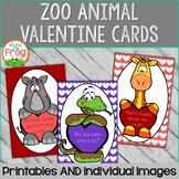 Zoo Animal Valentine Cards