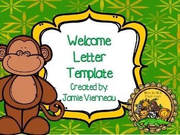 Zoo Animal Welcome Letter/Brochure