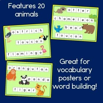 Zoo Animal Word Building