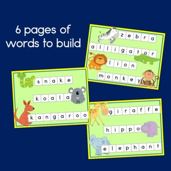 Zoo Animal Word Building