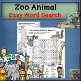 Zoo Animal Word Search * EASY