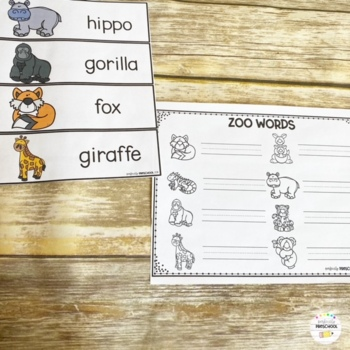 Zoo Animal Word Wall