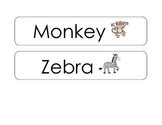 Zoo Animal Words- Literacy Center