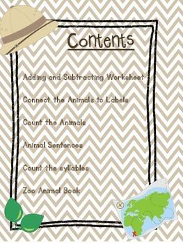 Zoo Animal Worksheets
