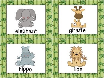 Zoo Animal Write-the-room