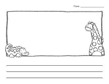 Zoo Animal Writing Paper