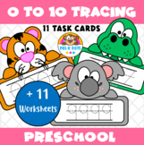 Zoo Animals 1-10 Number Writing Practice Pre-K & Kinder