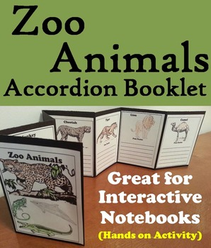 Zoo Animals Activity/ Foldable: Lion, Tiger, Polar Bear, Elephant, Monkey, Etc.