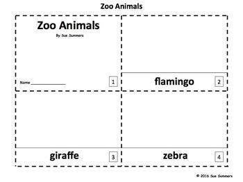 Zoo Animals 2 Emergent Reader Booklets