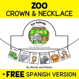 Zoo Animals Activity Crown and Necklace