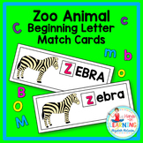 Zoo Animal Beginning Letter Match Literacy Center