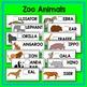 Zoo Animal Beginning Letter Match Literacy Center