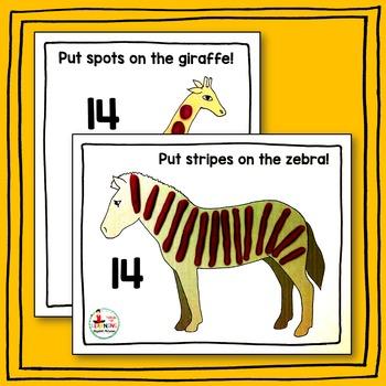 Zoo Animal Play-Doh Counting Mats