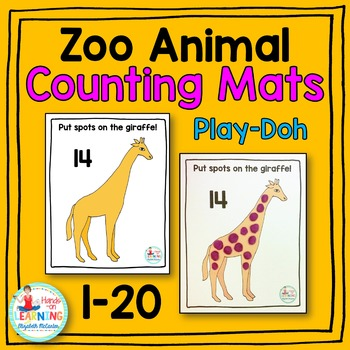 Zoo Animal Play-Doh Counting Mats