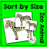 Zoo Animal Sort by Size Math Center