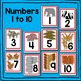 Zoo Animal Number Cards Math Center