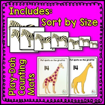 Zoo Animal Math Center BUNDLE 1