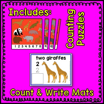 Zoo Animal Math Center BUNDLE 2