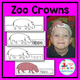 Zoo Animal Trace and Write Crowns