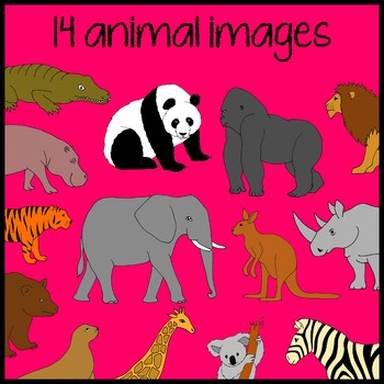 Zoo Animal Read and Write the Room