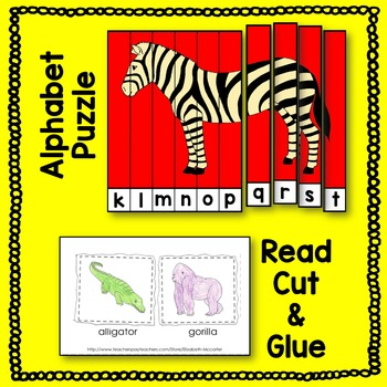 Zoo Animals Reading Activities