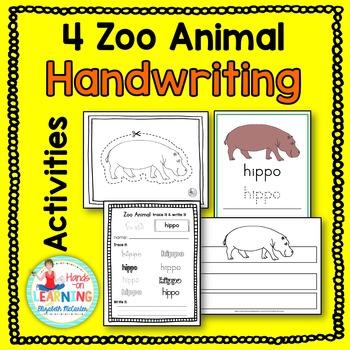Zoo Animal Handwriting Activities