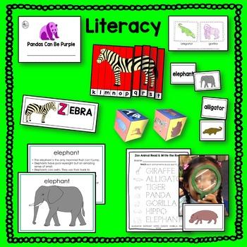Zoo Animals Literacy BUNDLE